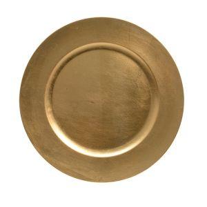 Kaemingk Charger Plate, 33cm - Gold