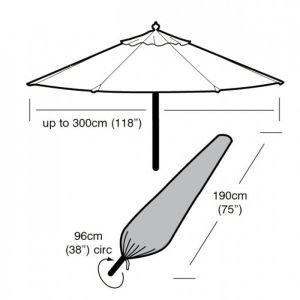 Garland Parasol Cover, Black - Large