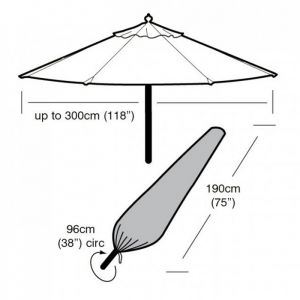 Garland Parasol Cover, Green - Large