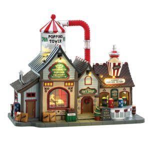 Lemax Christmas Figurine - Bell's Gourmet Popcorn Factory