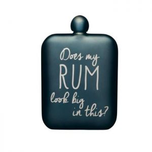 KitchenCraft Rum Slogan Hip Flask - Blue Metallic
