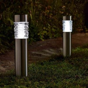Smart Solar Stella Stainless Steel Stake Lights - Pack of 4
