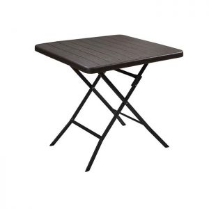 Blow Moulded Folding Wood Effect Table - 78cm