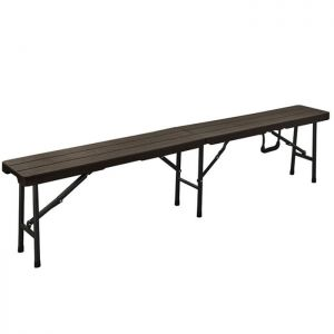 Blow Moulded Folding Wood Effect Bench - 6ft