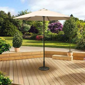 Pagoda Push Up Parasol, 2.5m - Beige