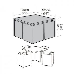 Garland Cube Set Cover - 4 Seater