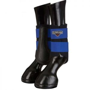 LeMieux Grafter Brushing Boots, Set of 2 - Benetton Blue