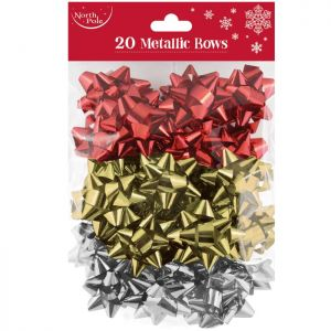 Metallic Gift Bows - Pack of 20
