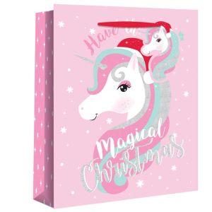 Christmas Unicorn Gift Bag - Extra Large