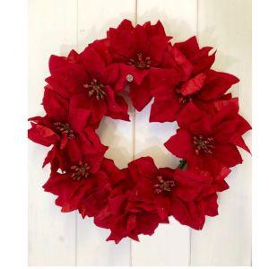 "Florelle 12"" Poinsettia Wreath"