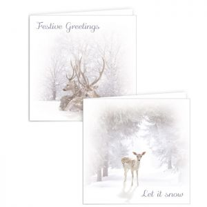 Christmas Deer Cards - Pack of 10
