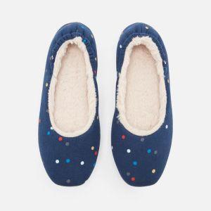 Joules Ladies Dreamwell Slipper - Navy Spot