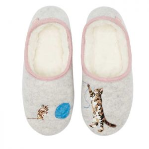 Joules Slippers - Cat and Mouse