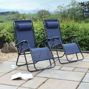 Wild Camping Gravity Chair, Navy – Set of 2