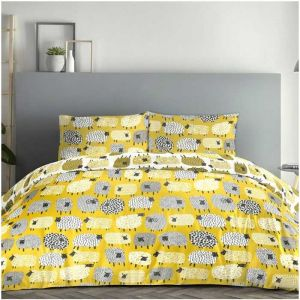Curtina Dotty Sheep Duvet Set - Ochre