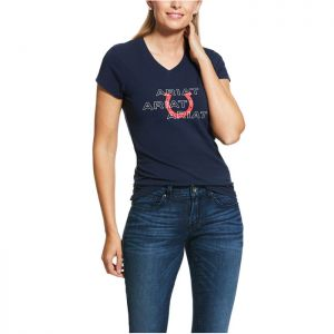 Ariat Puff Print T-Shirt - Navy