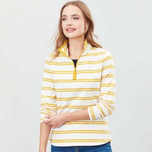 Joules Fairdale Half-Zip Sweatshirt - Gold Multi Stripe