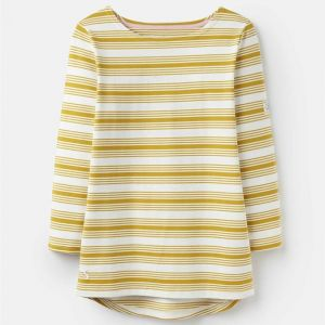 Joules Harbour Long Sleeve Jersey - Gold Multi Stripe