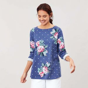 Joules Harbour Long Sleeve Jersey - Spot Blue Floral