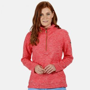 Regatta Ladies Fidelia Half Zip Fleece - Red Sky