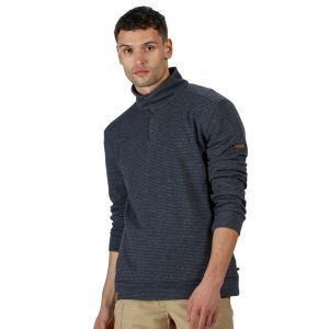 Regatta Men's Theon Buttoned Fleece - Navy Stripe