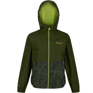 Regatta Children's Haskel Waterproof Camo Jacket - Khaki