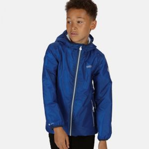 Regatta Children's Printed Lever Pack-away Waterproof Jacket - Blue