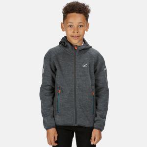 Regatta Children's Dissolver II Hooded Fleece - Dark Grey