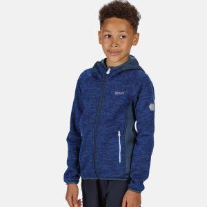 Regatta Children's Dissolver II Hooded Fleece - Nautical Blue/Dark Denim