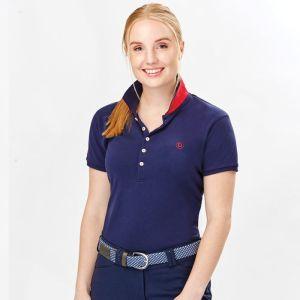 Dublin Women's Lily Cap Short Sleeve Polo Shirt - Navy