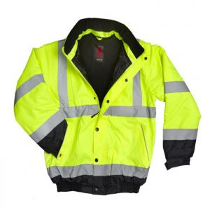 Warrior 2-Tone Hi-Vis Jacket - Yellow/Navy