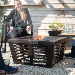 La Hacienda Elda Firepit with Cooking Grill