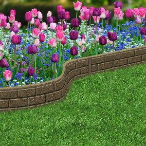 Ultra Curve Brick Border, Earth – 15cm x 1.22m