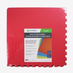 Multicolour Interlocking Floor Mats - 6 Pack