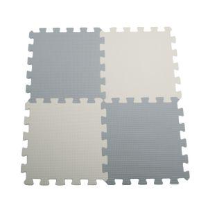 Grey & White Interlocking Floor Mats - 16 Pack