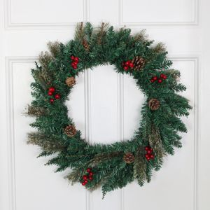 Snow Tipped Berry and Pinecone 50cm Wreath