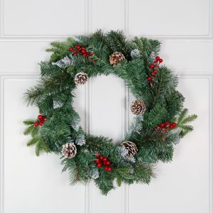 Frosted Winter Berry 60cm Wreath