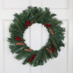 Winter Berry and Pinecone 60cm Wreath