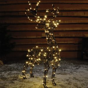 NOMA LED Wicker Stag Figure – 1.1m