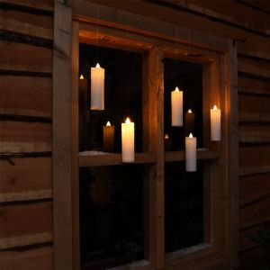 NOMA 5 Traditional Magic Christmas Candles with Remote Control - White