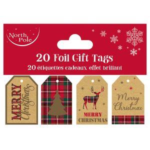 Eco Foil Fairisle Gift Tags - 20 Pack