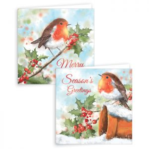 Painted Robin Christmas Cards – Pack of 10