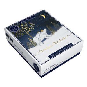 Tom Smith Christmas Cards – Polar Bear & Penguin - Pack of 20