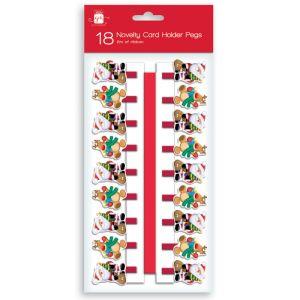 Santa and Reindeer Card Holder Pegs