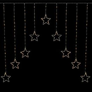 Premier Pin Wire Star Curtain – Warm White, 1.2m x 1.2m