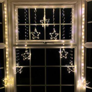 Premier LED 1.2m x 1.2m Star Curtain - Warm White