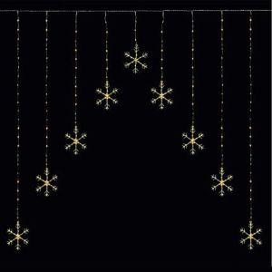 Premier Pin Wire Snowflake Curtain – Warm White, 1.2m x 1.2m