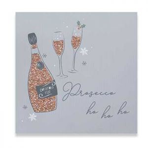 Prosecco and Bauble Christmas Cards – 10 pack