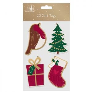Christmas Shaped Gift Tags – Pack of 20