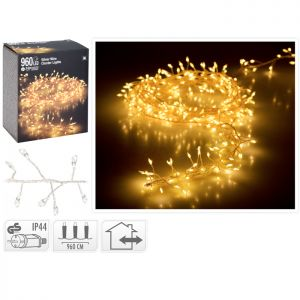 960 Micro LED Cluster Lights, Warm White - 9.6m